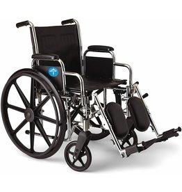 """Medline Medline Excel 2000 Wheelchair, 18"""" Wide Seat, Desk-Length Arms, Swing Away Footrests, Chrome Frame"""