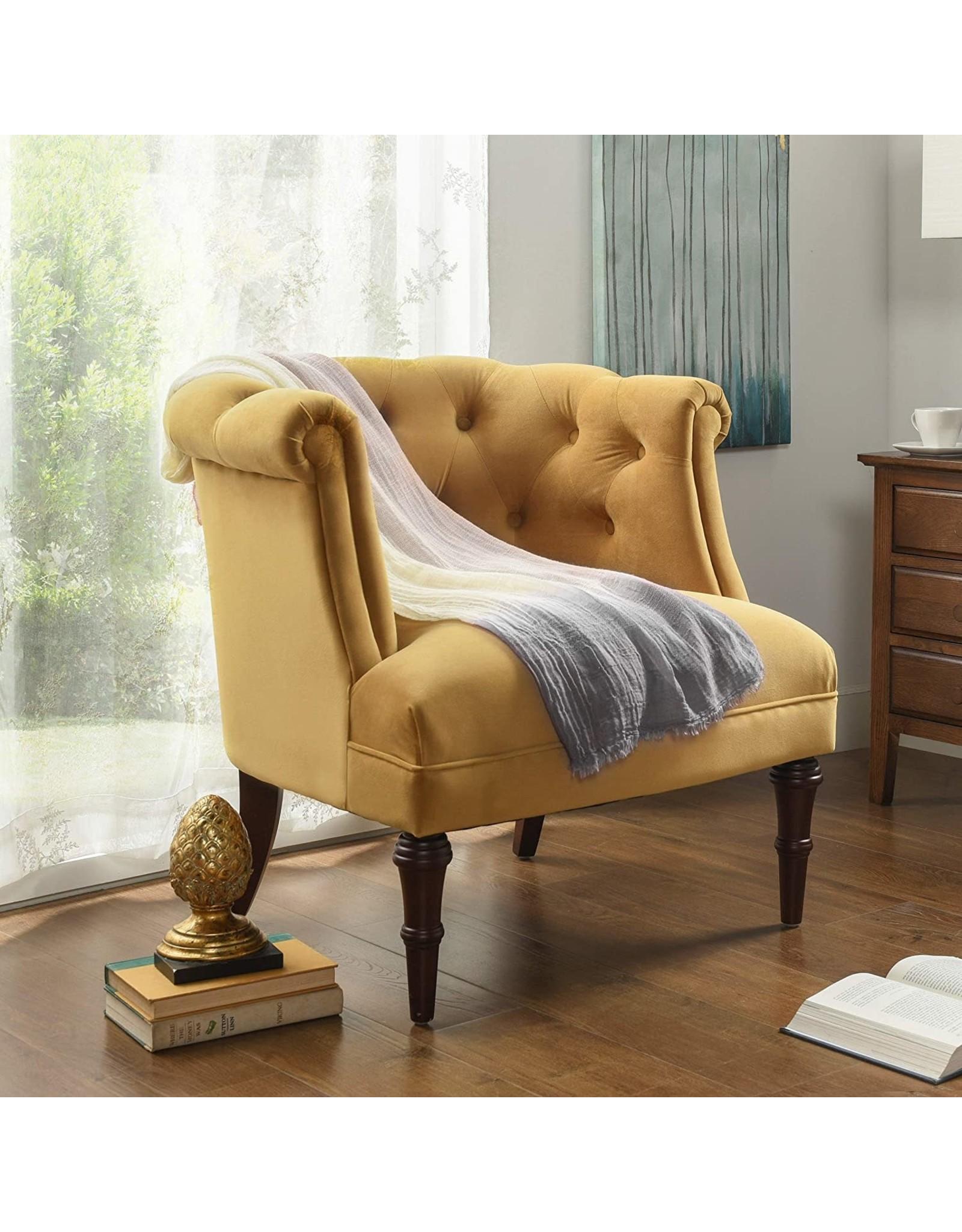 Jennifer Taylor Jennifer Taylor Katherine Tufted Accent Chair, Large, Gold