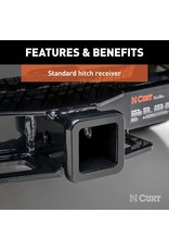 CURT CURT 13097 Class 3 Trailer Hitch, 2-Inch Receiver, Square Tube Frame, Select Dodge Durango