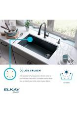 "Elkay Elkay Quartz Classic ELGU2522GS0C 24-5/8"" x 18-1/2"" x 9-1/2"", Single Bowl Undermount Sink Kit, Greystone"