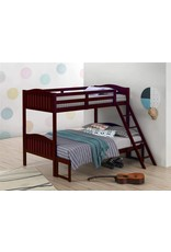 Coaster Home Furnishings Coaster Home Furnishings Pauline Solid Wood Twin Over Full Bunk Bed, Gray