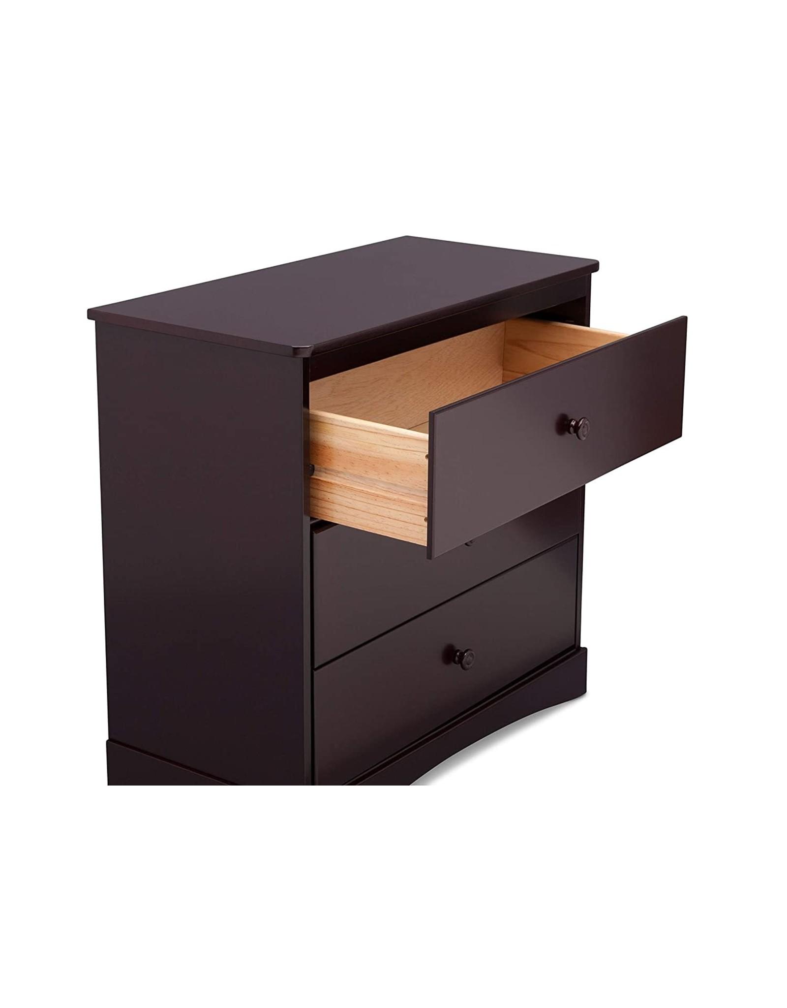 Delta Children Delta Children Sutton 3 Drawer Dresser with Changing Top, Espresso Java