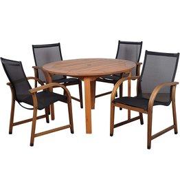 Amazonia ia Bahamas Eucalyptus Round Dining Set (TABLE ONLY)