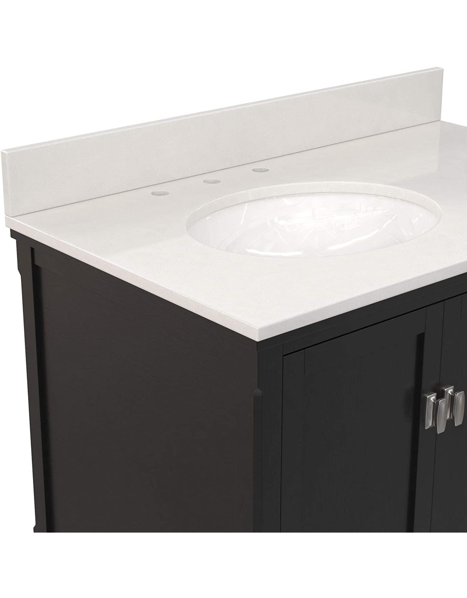 """Dorel Living Dorel Living Otum 36 Inch Sink, Black Wood Bathroom Vanity, 36"""""""