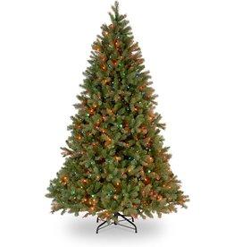 National Tree Company National Tree Company Feel Real lit Artificial Christmas Tree, Downswept Douglas Fir