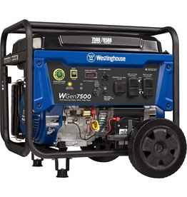 Westinghouse Westinghouse WGen7500 Portable Generator with Remote Electric Start 7500 Rated Watts & 9500 Peak Watts, Gas Powered, CARB Compliant, Transfer Switch Ready