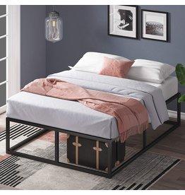 Zinus Zinus Joseph 14 Inch Metal Platforma Bed Frame / Mattress Foundation / Wood Slat Support / No Box Spring Needed / Sturdy Steel Structure, Queen