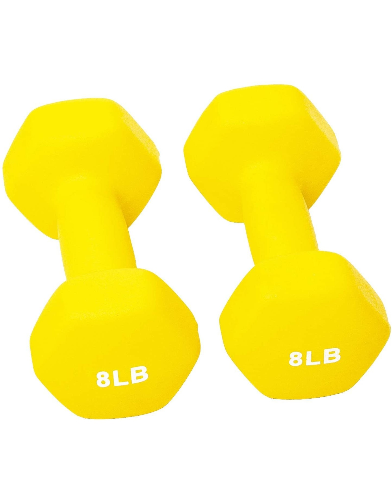 BalanceFrom BalanceFrom Set of 2 Neoprene Coated Non-Slip Grip Dumbbell Weights, Yellow