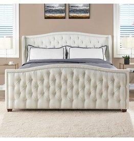 Jennifer Taylor Jennifer Taylor Home Marcella Upholstered Bed - King (Antique White)