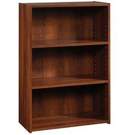 Sauder Sauder Beginnings 3-Shelf Bookcase, Brook Cherry finish