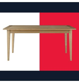 Tommy Hilfiger Tommy Hilfiger Lexington Solid Wood Dining Table, Mid-Century Modern Farmhouse Furniture, Weathered Oak