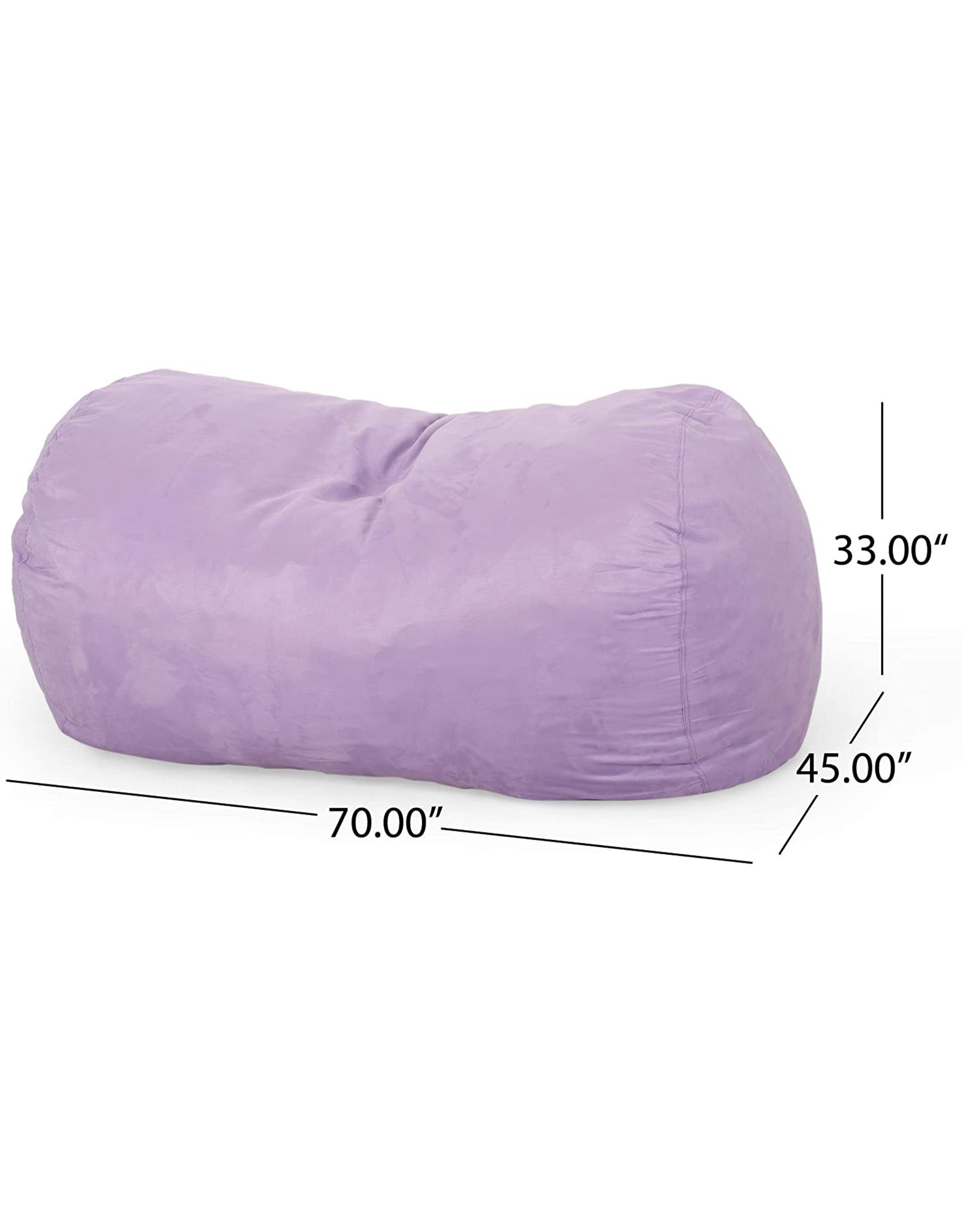 Christopher Knight Christopher Knight Home Shawn Modern 6.5 Foot Microfiber Pastel Bean Bag, Lavender