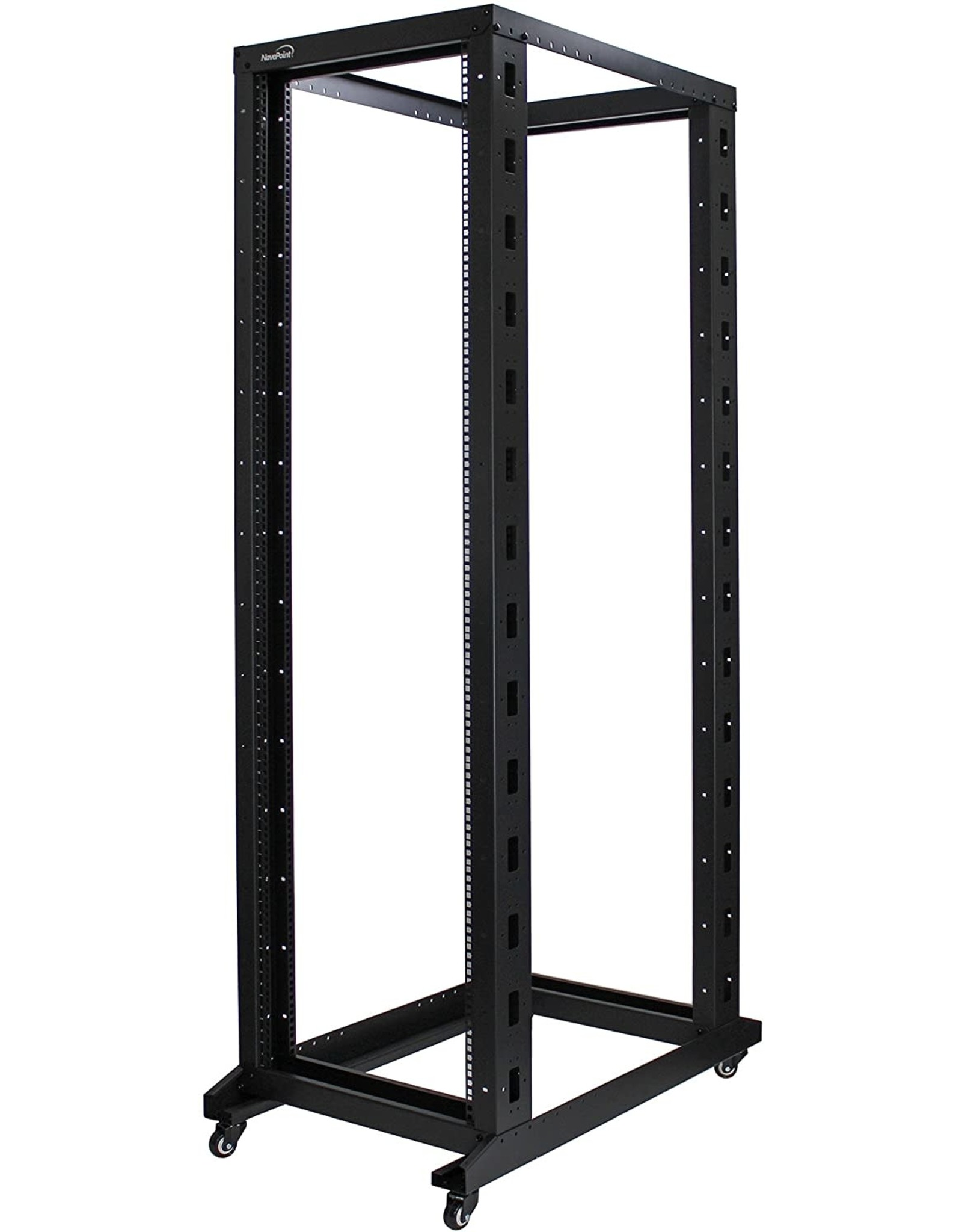 NavePoint NavePoint 42U Professional 4-Post IT Open Frame Server Network Relay Rack 1000mm Casters Black