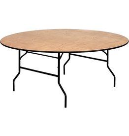 "Flash Furniture Flash Furniture 72RND Wood Fold Table, 72"" Round, Black"