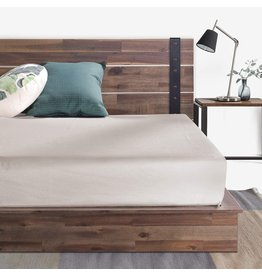 Zinus ZINUS Brock Metal and Wood Platform Bed Frame / Solid Acacia Wood Mattress Foundation / No Box Spring Needed / Easy Assembly, Queen
