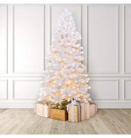 MARTHA STEWART MARTHA STEWART Flocked Pine Pre-Lit Artificial Christmas Tree, 9 Feet, Clear White Lights