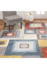 "Home Dynamix Home Dynamix Tribeca Calix Rug, 7'10""x10'6"" Rectangle, Ivory Blue Gray"