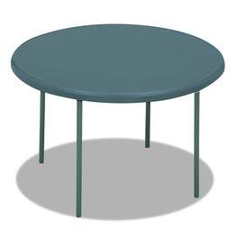 "Iceberg Iceberg 65247 IndestrucTable TOO Folding Table, 48"" Round, Charcoal"