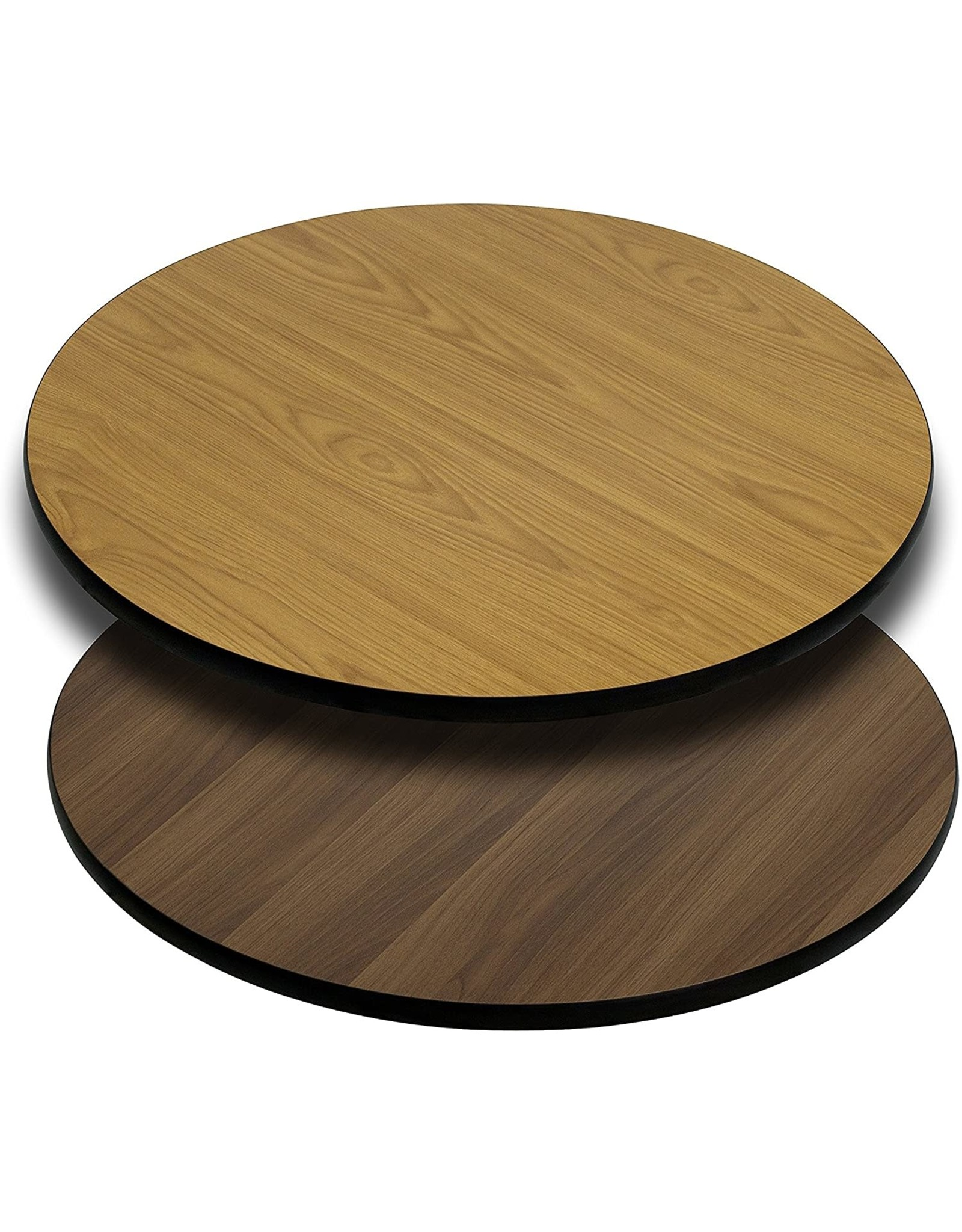 Flash Furniture Flash Furniture 24'' Round Table Top with Natural or Walnut Reversible Laminate Top