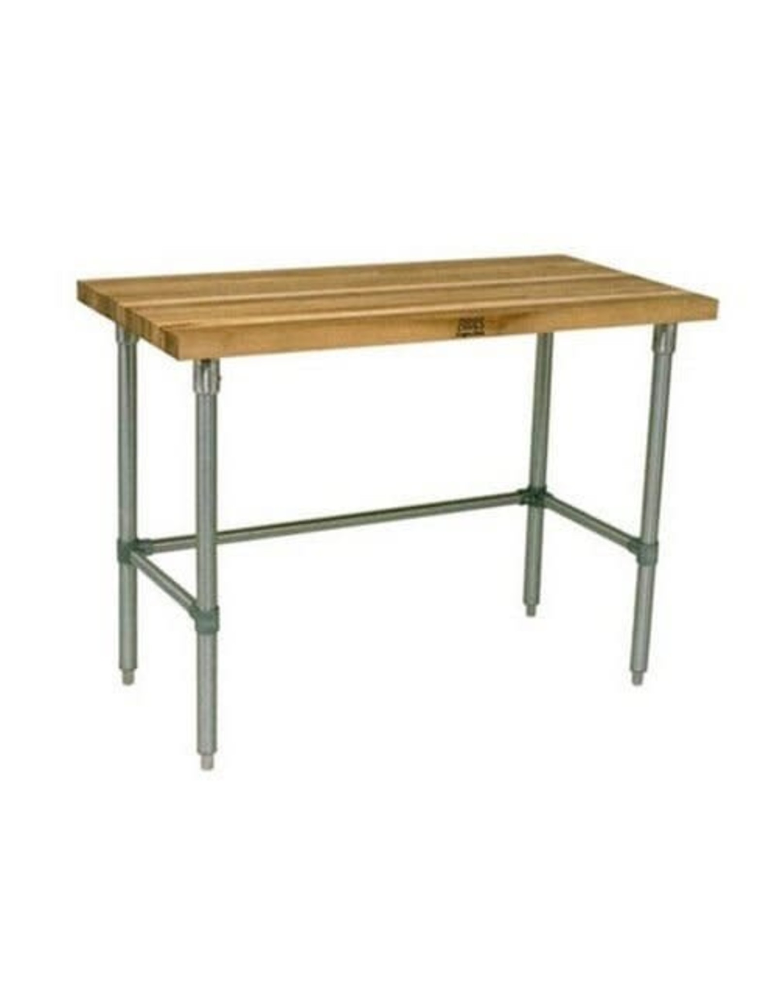 """John Boos John Boos JNB07 Maple Top Work Table with Galvanized Steel Base and Bracing, 36"""" Long x 30"""" Wide x 1-1/2"""" Thick"""