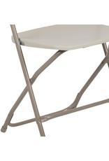 Flash Furniture Flash Furniture HERCULES Series 650 lb. Capacity Premium Beige Plastic Folding Chair