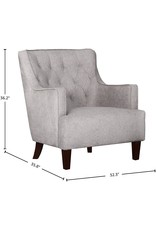 """Stone & Beam Amazon Brand – Stone & Beam Decatur Modern Tufted Wingback Living Room Accent Chair, 32.37""""W, Gray"""