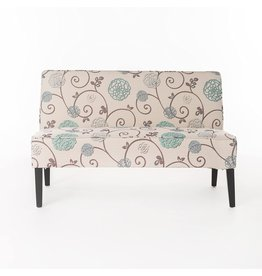 Christopher Knight Christopher Knight Home Dejon Fabric Love Seat, White And Blue Floral