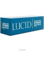 LUCID LUCID 12 Inch Full Hybrid Mattress - Bamboo Charcoal and Aloe Vera Infused Memory Foam - Motion Isolating Springs - CertiPUR-US Certified