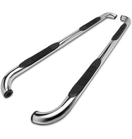 """TAC TRUCK ACCESSORIES COMPANY TAC Side Steps Fit Chevy Silverado/GMC Sierra 1999-2018 1500 & 1999-2019 2500/3500 Extended/Double Cab (Exclude C/K Classic) 3"""" Stainless Steel Side Bars Nerf Bars Step Rails Running Boards 2 Pieces"""