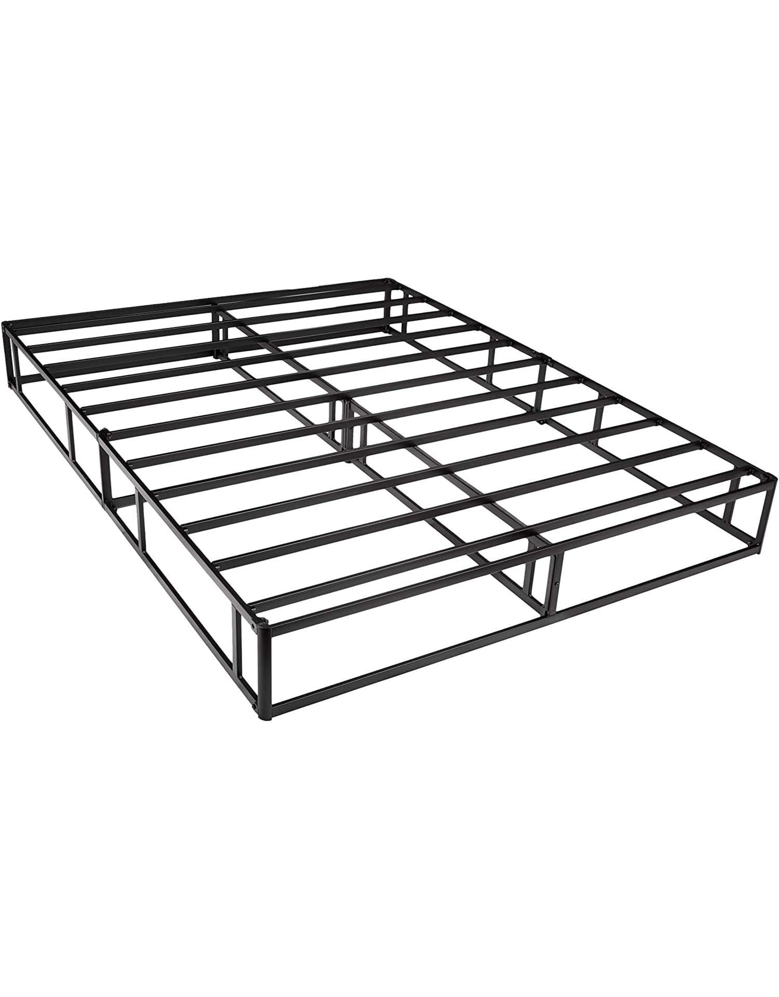 Amazon Basics Mattress Foundation / Smart Box Spring for King Size Bed, Tool-Free Easy Assembly - 9-Inch, King