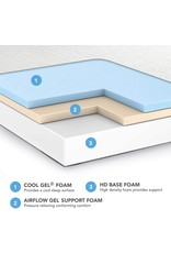 Classic Brands Classic Brands Cool Gel Ventilated Memory Foam 10-Inch Mattress   CertiPUR-US Certified   Bed-in-a-Box, California King