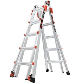 Little Giant Little Giant Ladders, Velocity with Wheels, M22, 22 Ft, Multi-Position Ladder, Aluminum, Type 1A, 300 lbs Weight Rating, (15422-001)