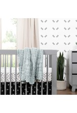 babyletto Babyletto Hudson 3-in-1 Convertible Crib with Toddler Bed Conversion Kit in Grey, Greenguard Gold Certified