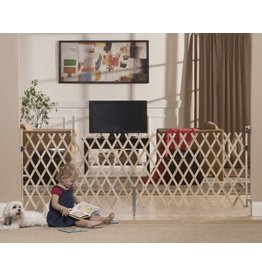 """GMI GMI Keepsafe 84"""" Wood Expansion Gate-Made in USA! Collapses to 20.5""""!"""