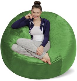 Sofa Sack Sofa Sack - Plush Ultra Soft Bean Bags Chairs for Kids, Teens, Adults - Memory Foam Beanless Bag Chair with Microsuede Cover - Foam Filled Furniture for Dorm Room - Lime 5'