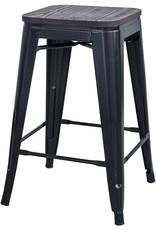 "Buffalo Tools Buffalo Tools BS24SWTSET 24"" Metal Barstool W/Top 4Pk"
