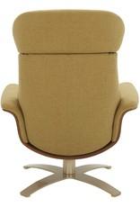 "Rivet Amazon Brand – Rivet Olander Mid-Century Modern Recliner Chair with a Swivel Base, 31.1""W, Lemongrass"