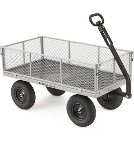 Gorilla Carts Gorilla Carts GOR1001-COM Heavy-Duty Steel Utility Cart with Removable Sides, 1000-lbs. Capacity, Gray