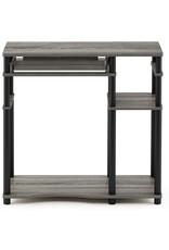 Furinno Furinno Abbott Computer Desk with Bookshelf, French Oak Grey/Black
