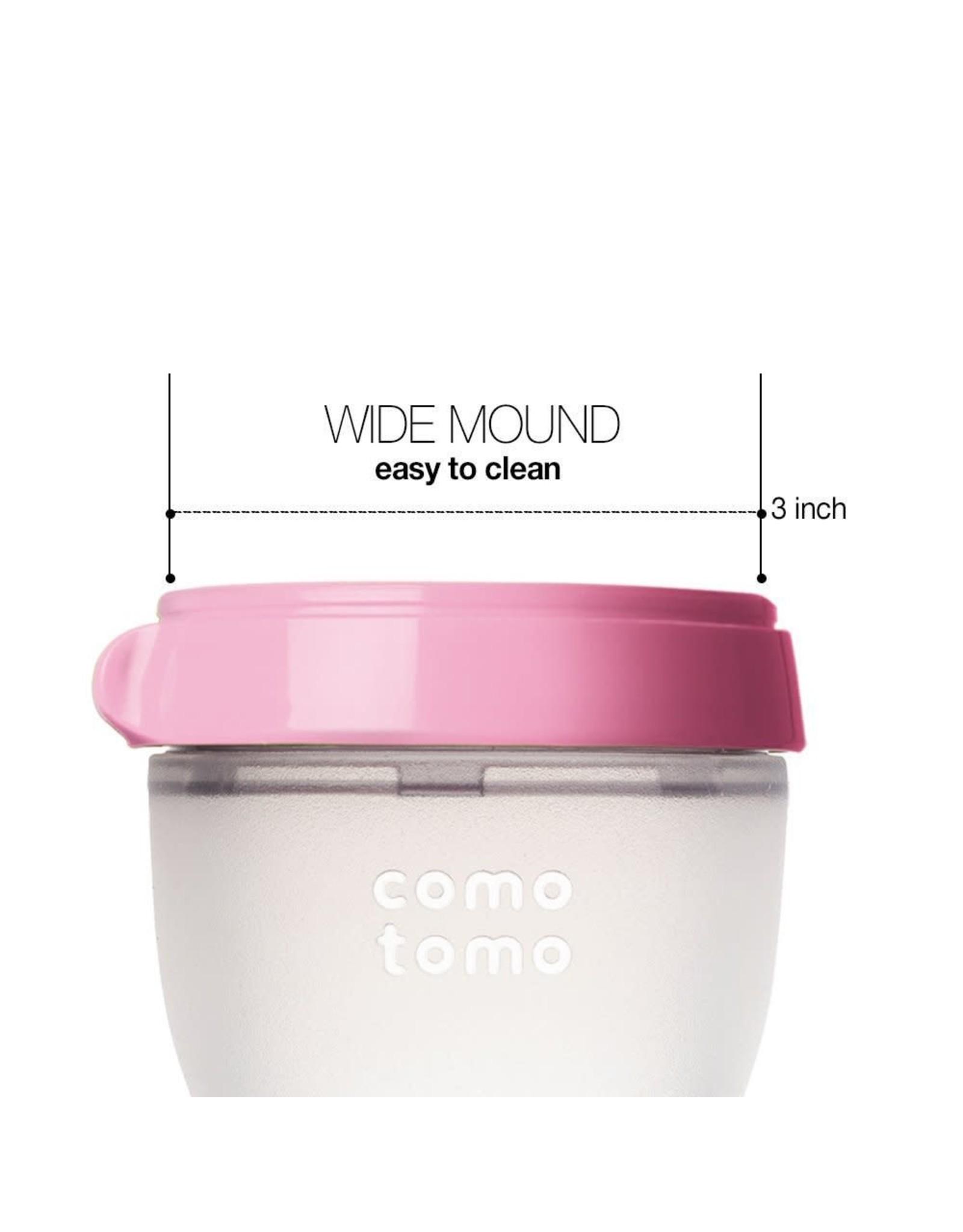 Comotomo Comotomo Baby Bottle, Pink, 8 Ounce (2 Count)