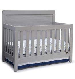 Delta Children Simmons Kids SlumberTime Rowen 4-in-1 Convertible Baby Crib, Grey