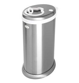 Ubbi Ubbi Money Saving, Nappy Disposal Bin, Steel Odor Locking Nappy Pail, silver