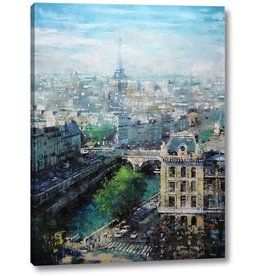 """Canvas Art USA Tower in The Distance by Mark Lague - 18"""" x 24"""" Canvas Art Print Gallery Wrapped - Ready to Hang"""