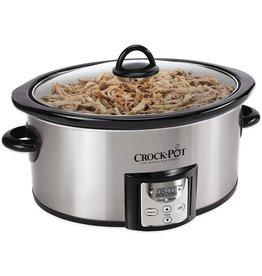 Crock-Pot Crock-Pot 4 SCCPVC400S Quart Capacity Intelligent Count Down Timer Slow Cooker Small Kitchen Appliance, Stainless Steel