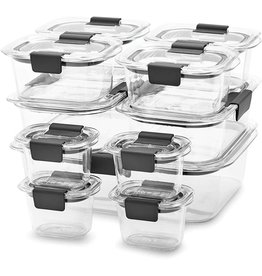 Rubbermaid Rubbermaid Brilliance 100% Leak-Proof Microwavable Crystal Clear Food Storage Container Set, 22-Piece