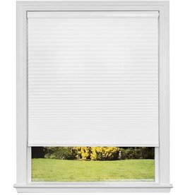 Redi Shade Redi Shade Artisan Select No Tools Custom Cordless Cellular Blackout Shades, Cloud White, 32 5/8 in x 72 in