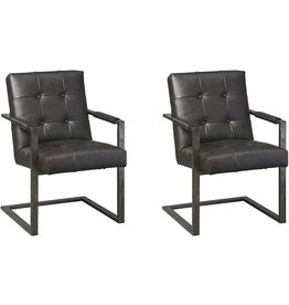 Signature Design by Ashley Ashley Furniture Signature Design - Starmore Home Office Desk Chair - Contemporary - Tufted Black Faux Leather