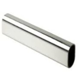 EPCO Epco 830-8-PC Oval Closet Rod Polished Chrome 1 mm-15mm X 30 mm-8FT