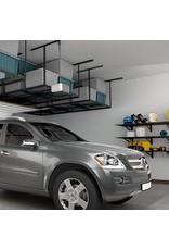 "FLEXIMOUNTS FLEXIMOUNTS 4x8 Overhead Garage Storage Rack Adjustable Ceiling Garage Rack Heavy Duty, 96"" Length x 48"" Width x (22''-40"" Ceiling Dropdown), Black (Two-Color Options)"