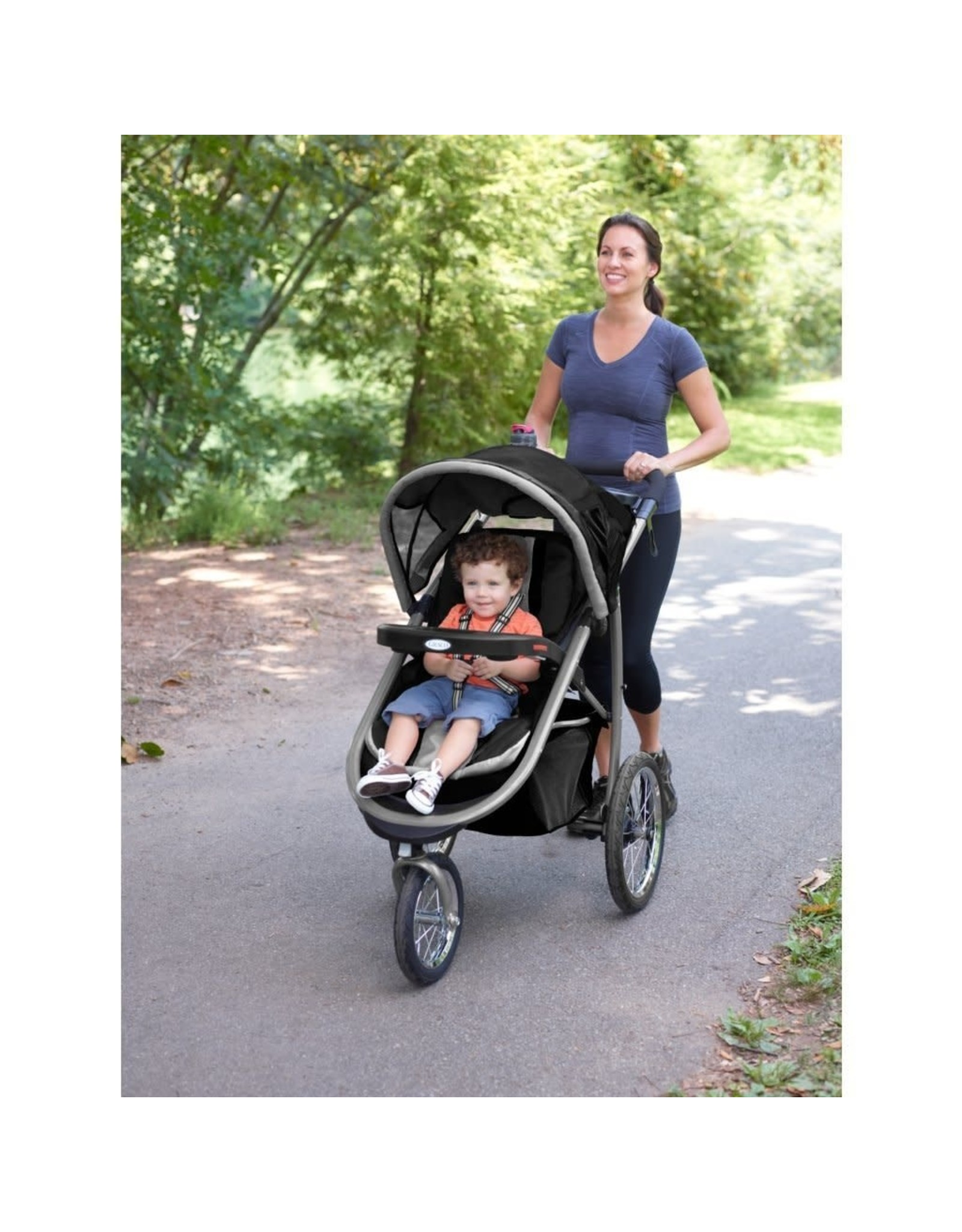 Graco Graco FastAction Fold Jogger Travel System  Includes the FastAction Fold Jogging Stroller and SnugRide 35 Infant Car Seat, Gotham